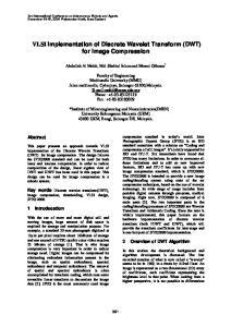 VLSI Implementation of Discrete Wavelet Transform (DWT) for Image Compression
