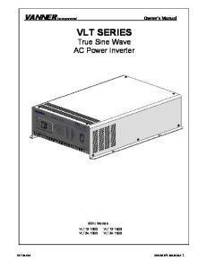 VLT SERIES True Sine Wave AC Power Inverter