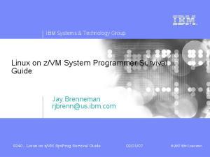 vm System Programmer Survival Guide