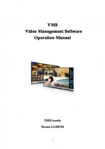VMS Video Management Software Operation Manual