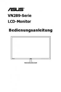 VN289-Serie LCD-Monitor. Bedienungsanleitung