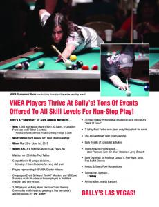 VNEA Players Thrive At Bally s! Tons Of Events Offered To All Skill Levels For Non-Stop Play!
