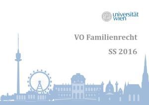 VO Familienrecht SS 2016