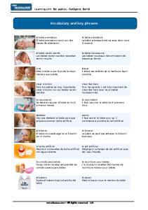 Vocabulary and key phrases