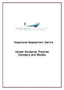 Vocational Assessment Centre. Career Guidance Theories Concepts and Models