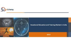Vocational Education and Training Market in India