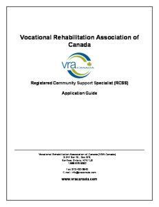 Vocational Rehabilitation Association of Canada