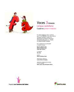 Voces 3 PRIMARIA Lengua castellana