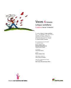 Voces 4 PRIMARIA Lengua castellana