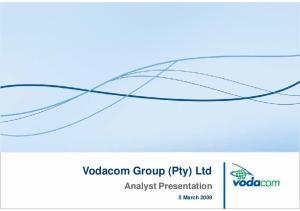 Vodacom Group (Pty) Ltd. Analyst Presentation