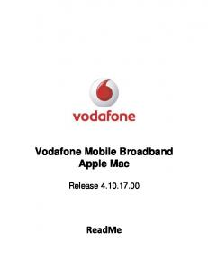 Vodafone Mobile Broadband Apple Mac