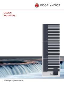 VOGEL&NOOT DESIGN RADIATORS. heatingthroughinnovation