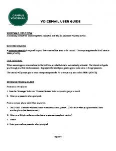VOIC USER GUIDE