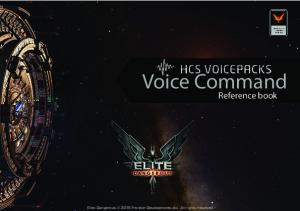 Voice Command. Reference book. Elite: Dangerous 2015 Frontier Developments plc. All rights reserved