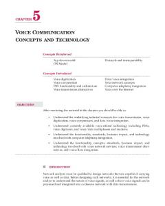 VOICE COMMUNICATION CONCEPTS AND TECHNOLOGY