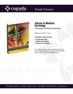Voices in Medical Sociology Contemporary and Historical Perspectives