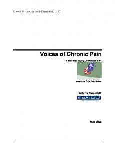 Voices of Chronic Pain