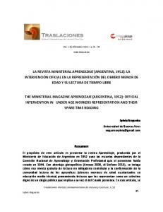 Vol. 1 (2) Diciembre 2014 p ISSN
