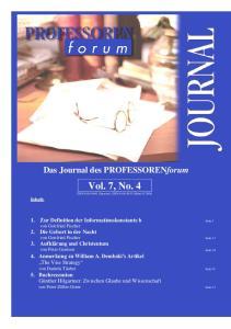 Vol. 1, No. 1 Vol. 7, No. 4