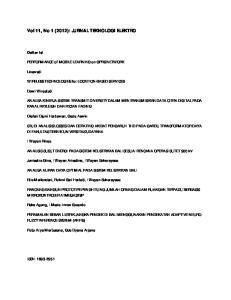 Vol 11, No 1 (2012): JURNAL TEKNOLOGI ELEKTRO