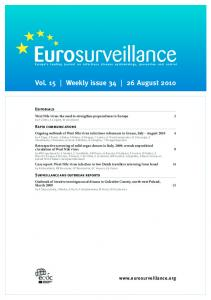 Vol. 15 Weekly issue August 2010