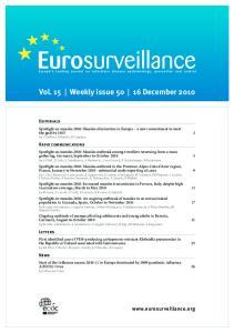 Vol. 15 Weekly issue December 2010