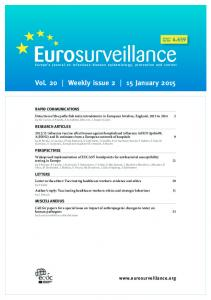 Vol. 20 Weekly issue 2 15 January 2015