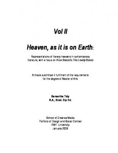 Vol II. Heaven, as it is on Earth: