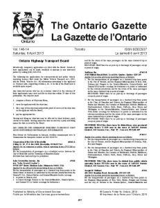 Vol Toronto ISSN Saturday, 6 April 2013