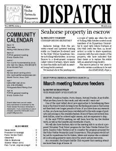 Vol. XXVII, Issue 3 March by MELODY COLBERT corresponding secretary