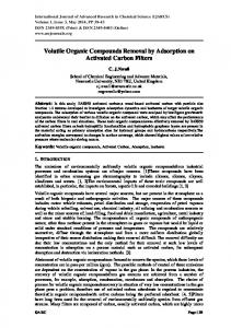 Volatile Organic Compounds Removal by Adsorption on Activated Carbon Filters