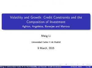 Volatility and Growth: Credit Constraints and the Composition of Investment