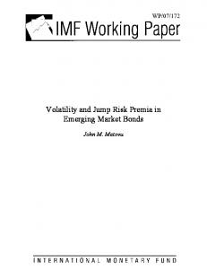 Volatility and Jump Risk Premia in Emerging Market Bonds