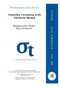 Volatility Investing with Variance Swaps