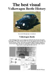 Volkswagen Beetle History