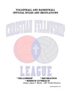 VOLLEYBALL AND BASKETBALL OFFICIAL RULES AND REGULATIONS