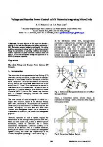 Voltage and Reactive Power Control in MV Networks integrating MicroGrids