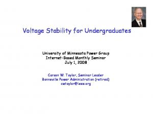 Voltage Stability for Undergraduates