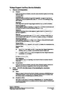 Voltage Support Ancillary Service Schedule