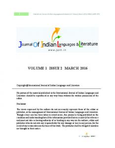 VOLUME 1 ISSUE 2 MARCH 2016