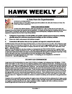Volume 3, Issue 11 October 12, 2015