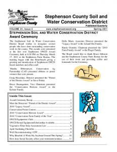 VOLUME 31, STEPHENSON SOIL AND WATER CONSERVATION DISTRICT