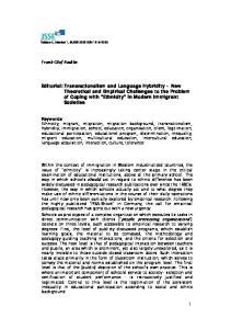 Volume 4, Number 1, JSSE 2005 ISSN Frank-Olaf Radtke