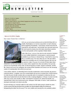 Volume 41, Number 7: October 2013