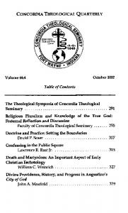 Volume 66:4 October Table of Contents