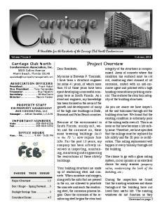 Volume 7 Issue 9 February Dear Residents,