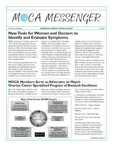 VOLUME 9, NUMBER 3 MINNESOTA OVARIAN CANCER ALLIANCE Fall 2009