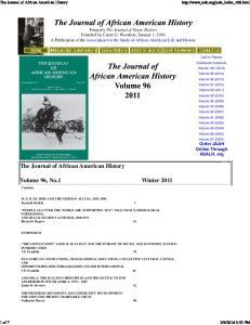 Volume 96, No.1 Winter 2011