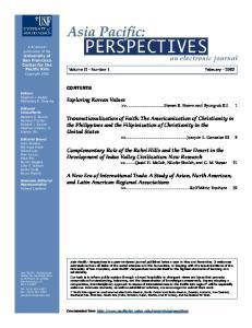 Volume II Number 1 February 2002