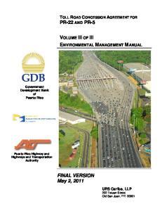 VOLUME III OF III ENVIRONMENTAL MANAGEMENT MANUAL